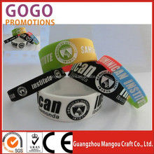 Wholesale Promotional Color Print Debossed Engrave personalized silicone hand band,Latest exported electronic silicone hand band
