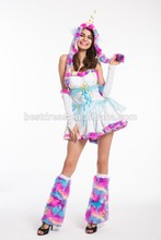 Walson s-2xl Instyles Valentine Unicorn Costume Complete Set Rave Outfit s3309 clothing