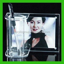 Custom Office Table Decoration Item With Round Pen Holder Vase Photo Frames
