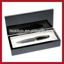 High quality piano black lacquer finish wooden pen packaging box