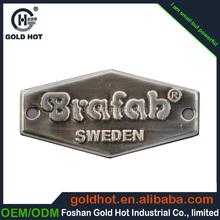 Personalize aço inoxidável placa de identificação conteúdo bulge e escovado