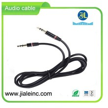 Noodle Auxiliary Stereo Audio Cable - Black with Smart IC Sence