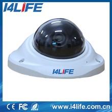 Exterior a prueba de vandalismo 130 Degree granangular panorámica lente ojo de pez CCTV cámara