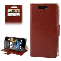 Crazy Horse Texture Leather Wallet Cover for HTC Desire 500 Case