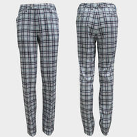 High quality new design plaid tweed waterproof golf trousers