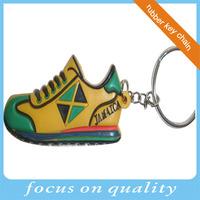 2d pvc embossed running converse custom shoe keychains