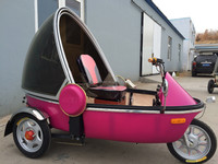 bubble model three wheels electric bicycle e trike passenger three wheel bicycle auto cover