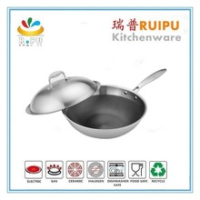 Kitchen cookware stainless steel kitchen queen cookware 18 / 10 accessories wok stainless steel hot pot two side cookware