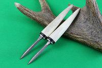 Damascus tea knife handle natural antlers Tea cone Needle tea