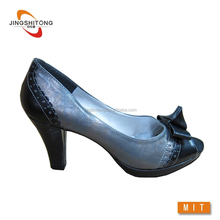 Good Quality high heels peep toe sexy women dress shoe low heel lady shoes with good offer