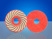 80MM Diamond Soft Fiber Pad / Floor polishing pads for marble and granite