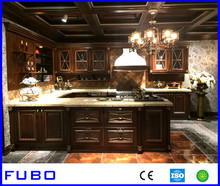 Architecture project cherry wood kitchen cabinet