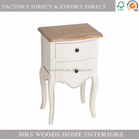 french style wooden nightstand wood bedside table shabby chic white bedroom furniture