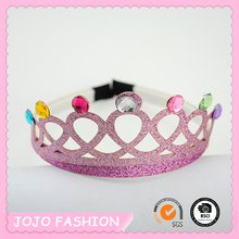 2015 Fashion Wholesale Lovely Girls Tiara Plastic Hair Band
