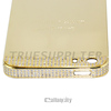 Wholesale Bling Side Crystal 24kt Gold Plated Back Cover Housing for iPhone 5s