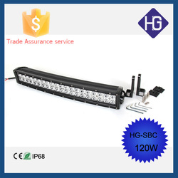 IP68 21.5'' 120W IP67 double row 4D lens off road led motorcycle headlights