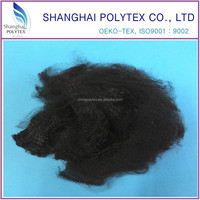 virgin black polyester staple fiber 1.5Dx38MM