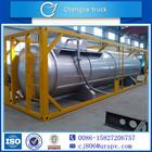 Alta eficiência reboque montado DTA 20ft amarelo fósforo tanker truck
