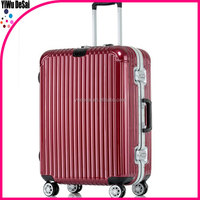 metal frame luggage draw-bar box luggage with removable wheels