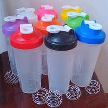 Custom promotional best 650ml plastic shaker Bottle with Stainless Steel Ball 22oz Capacity Special