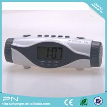 Customized Plastic Retro Alarm Clock Radio with Torch, led clock radio, led alarm clock