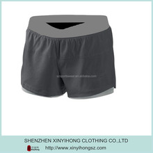 Contrast waist tight cotton sports shorts for men