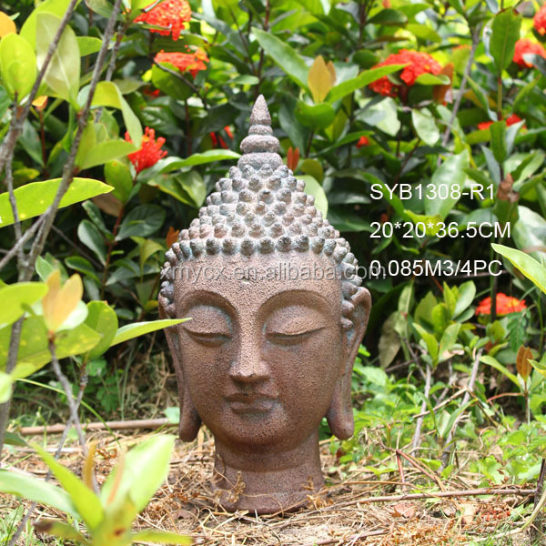 Modern Art Sculpture Buddha Head Garden Statue