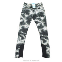 2016 new design sports gym long pants of ink printing
