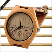 jelly watch fallow cheap price bamboo material dermis watchband brown hot sale digital watches