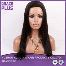 wholesale cheap 100 brazilian virgin human hair full lace wigs, long black straight hair wig