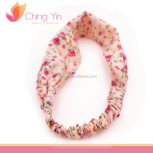 Japanese Style Floral Print Elastic Headband Hair Wrap