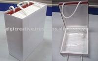 Custom Carton Wine Gift Box with Handle, Wine Packaging