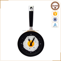 Fashion Promotion Gifts Funny Clock Happy Time 3D Pan Wall Clock For Kichen Decorate