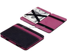 High quality leather wallet / travel organizer wallet / magic wallet
