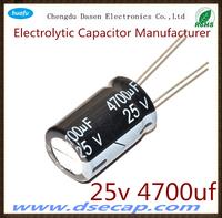 best seller 25v 4700uf capacitor aluminium electrolytic capacitor 17*30