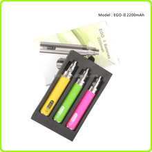 2200 mah Rechargeable E Cig Ego II Battery Vaporizer Cigarette Kgo 1 week