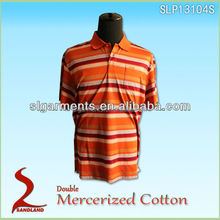 100%Double Mercerized cotton Polo T shirts for man and men golf shirt