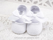 no brand white color soft-soled new born baby prewalker toddler lace shoes