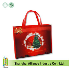 Christmas lamination eco pp non woven tote bag for promotion ALD1350