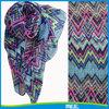 Printed lady fashional Chevron polyester scarf