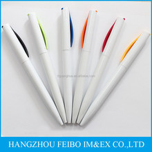 promotional pen white plastic twist pens BP-6274B