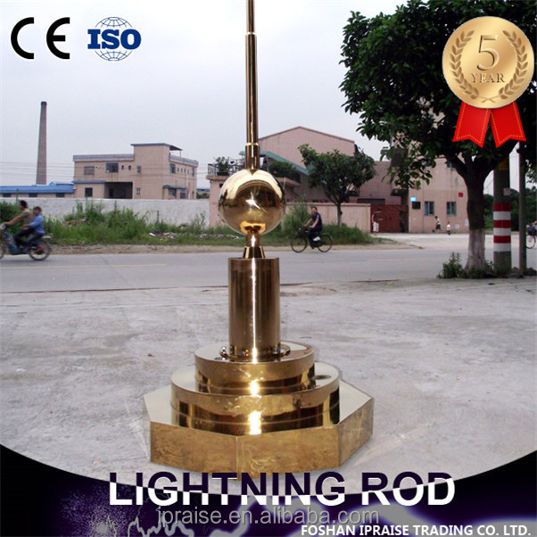 stainless steel ese decorative tower lightning rod for