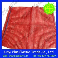 raschel drawstring knitted plastic mesh bag