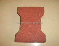 Dog Bone Rubber Patio Paver Tile/Outdoor Rubber Driveway Mats Pavers