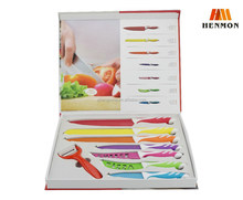 2015 new products swiss line Colorful Kitchen Knife Set with Color Box Packing