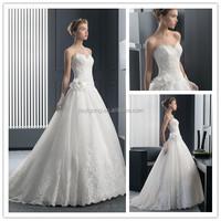 Hot sale organza white dresses for women/bridal dresses/wedding dresses 2014