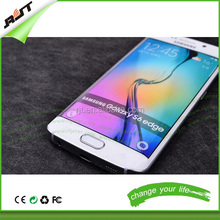 Front Back Film silicone screen protector for Samsung Galaxy S6 Edge Automatic Adsorption Bubbles