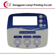 botton embossing PVC control pannel sticker