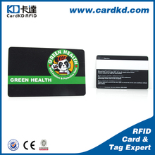 wholesale cheap price embossing pvc business card special with White Signature Strip