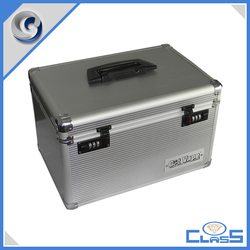 Simple and generous handle silver Aluminum tools box